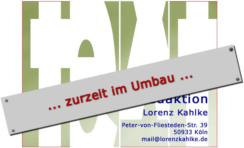 text und redaktion Lorenz Kahlke,  Peter-von-Fliesteden-Str. 39, 50933 Koeln / Köln / Köln